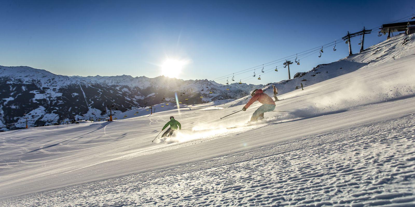 Skifahren bei besten Schneebedingungen